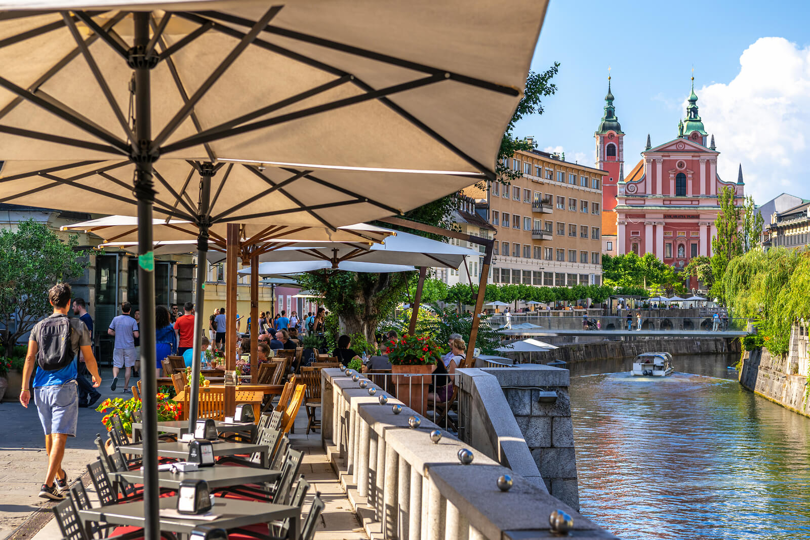 Ljubljana Riverbanks Restaurant