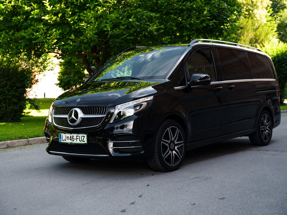 VIP transportation mercedes V class van