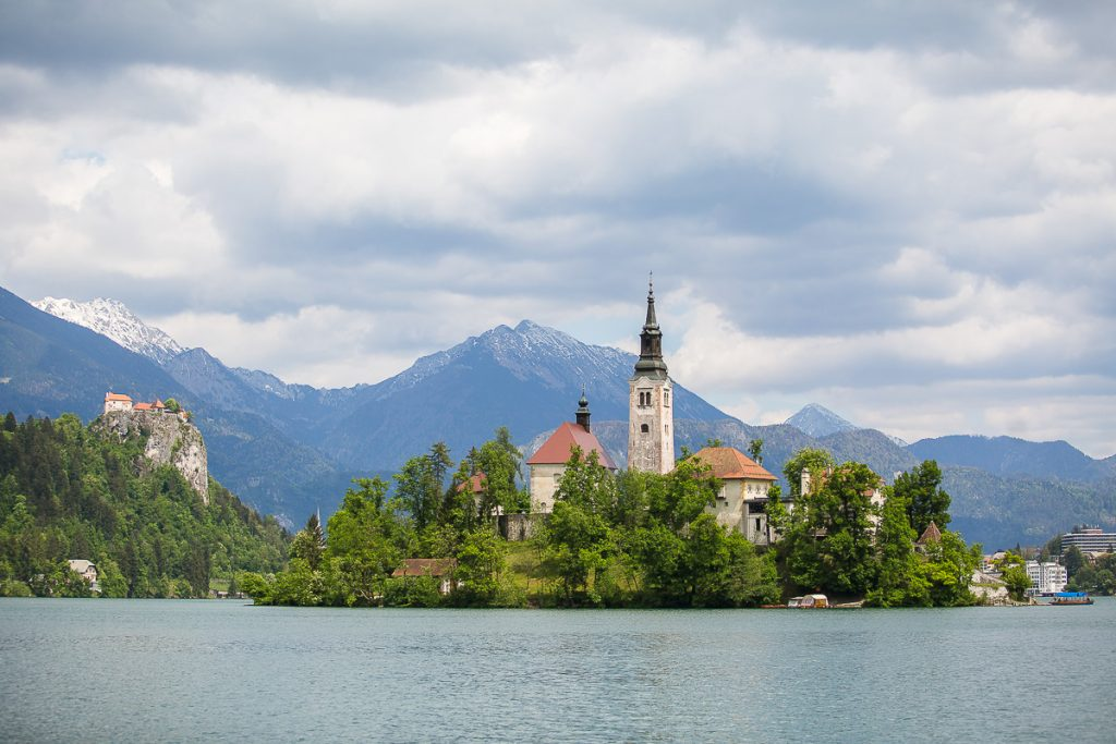 bled lake island castle church