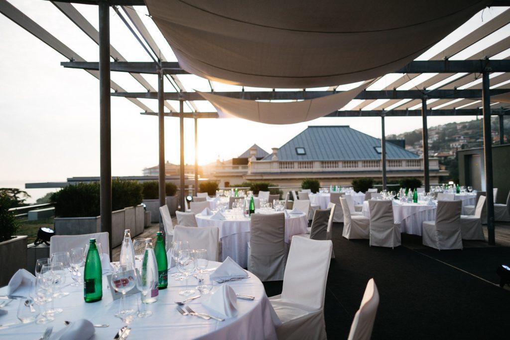 coctail reception rooftop hotel portoroz