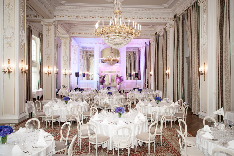 crystal hall ballroom in kempinski palace