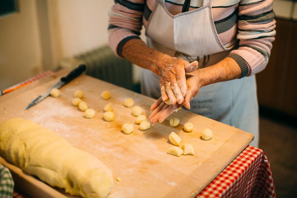 hand made gnocchi slovenia