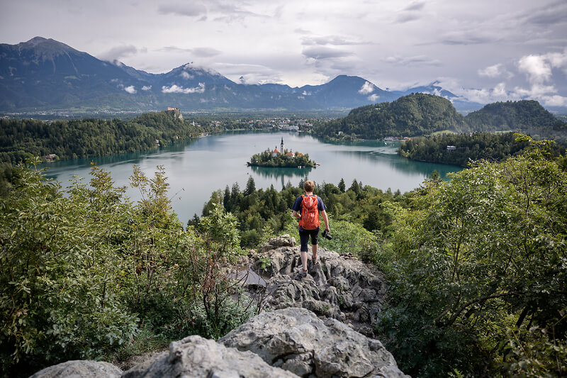 lake bled hiking island