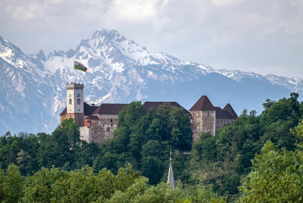 ljubljana castle on top of hill