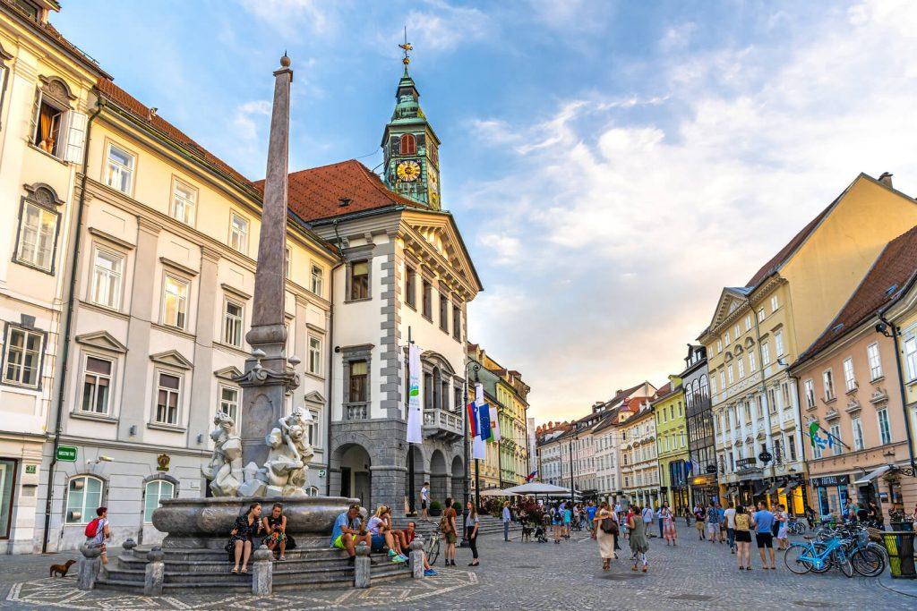 ljubljana old city square
