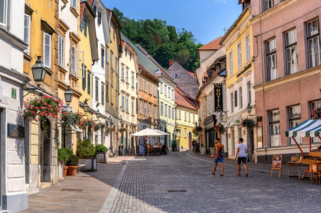 ljubljana old town center