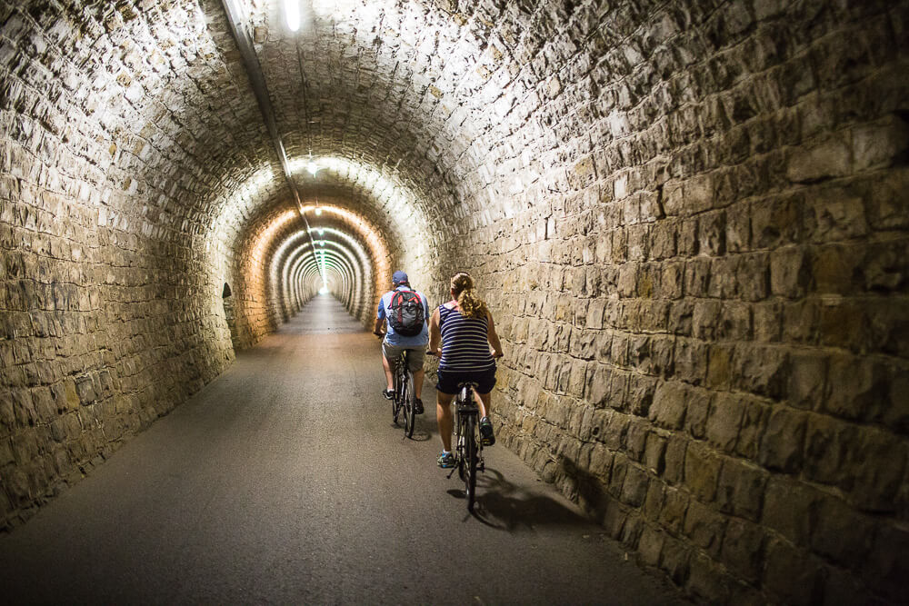 parenzana tunnel biking tour