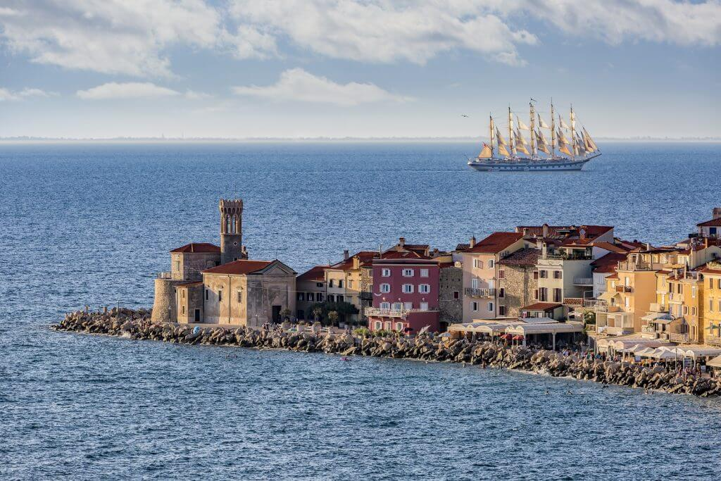 piran beautiful old town medeival sea