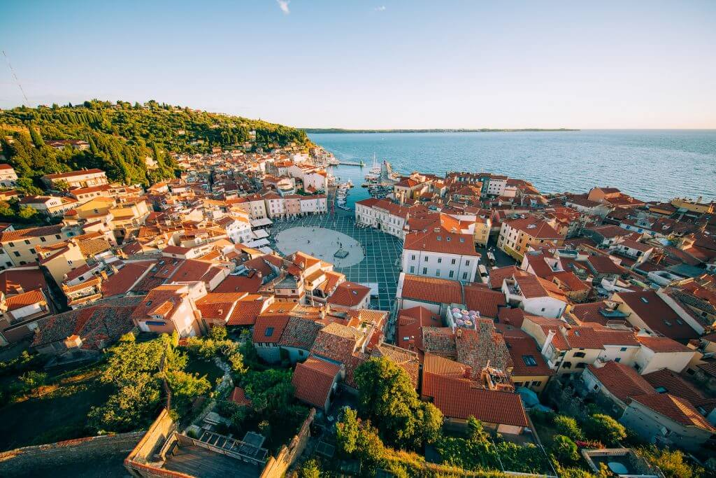 piran city center coast slovenia