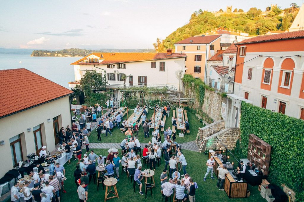 piran slovenia event dinner evening function