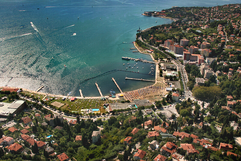 portoroz air view group tour