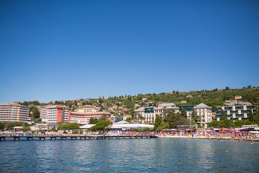 portoroz slovenia sea side resort beach