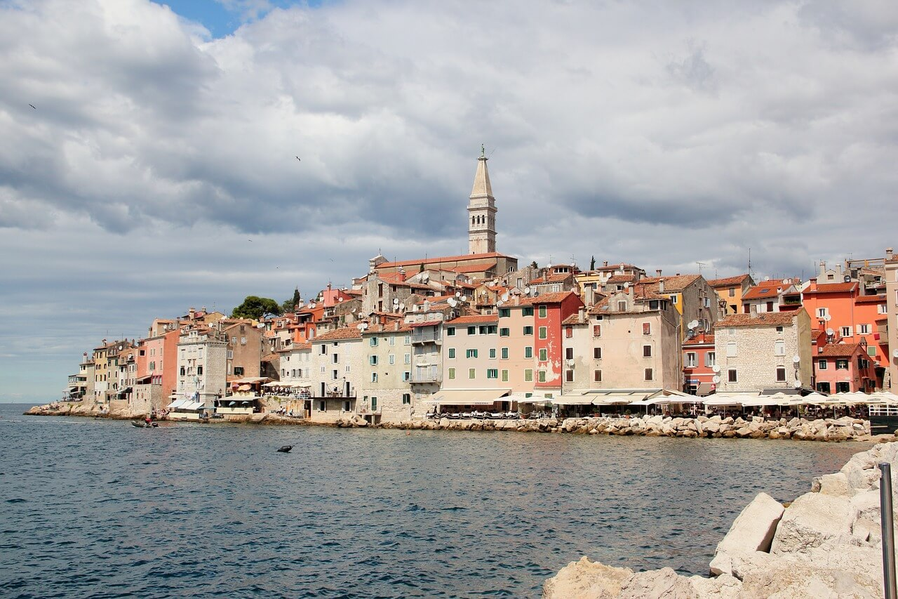 rovinj croatia seaside