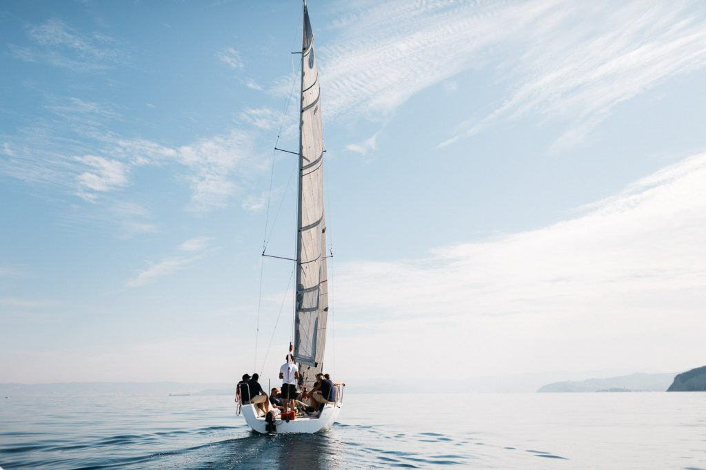 saling boat slovenia