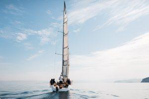 sail boat slovenian coast activity