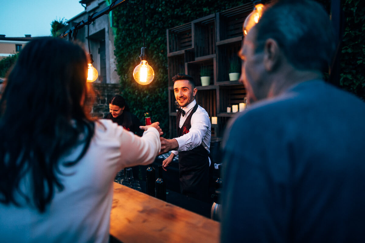 bartender in secret event