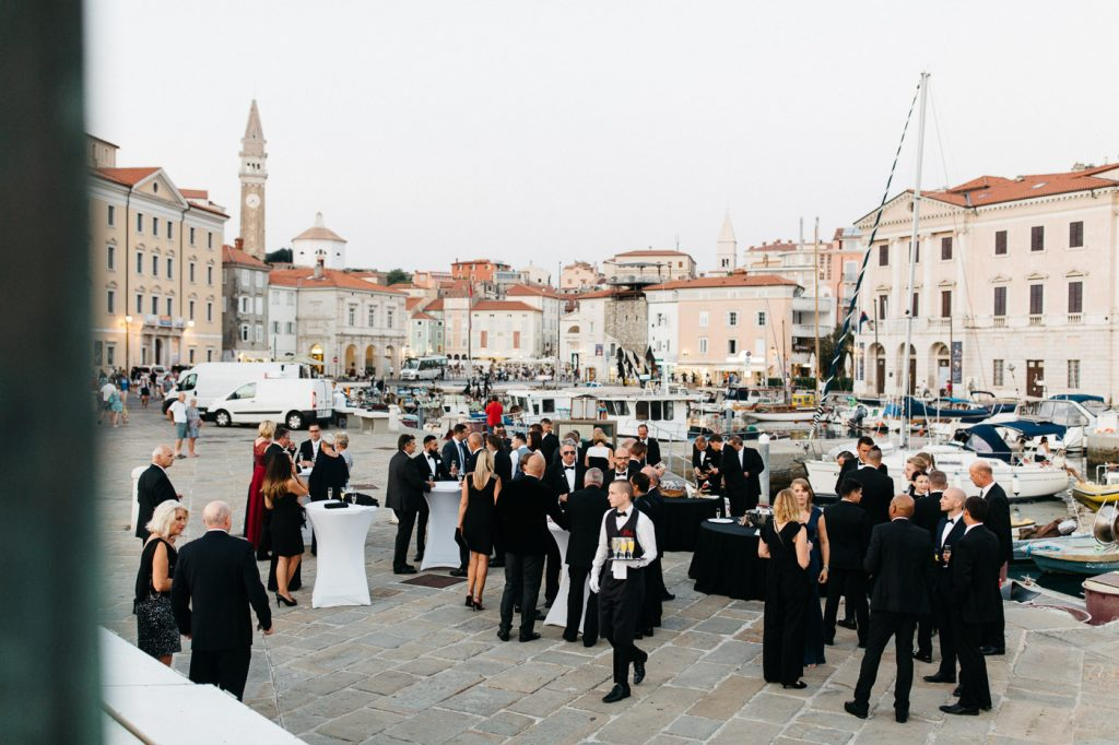 outside award dinner gala in piran